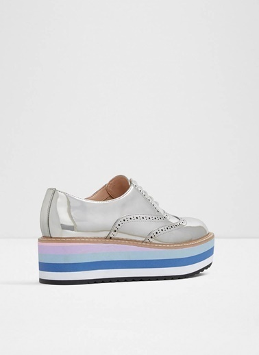 Aldo Dolgu Tabanlı Oxford Ayakkabı Gümüş